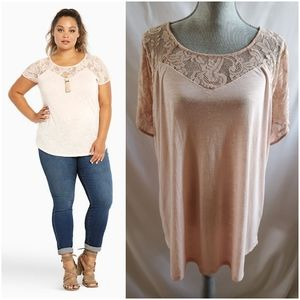 🆕 Torrid Lace Inset Tee